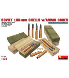 1:35 Soviet 100-mm Shells w/ Ammo Boxes