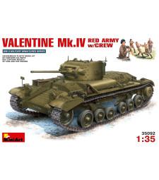 1:35 Valentine Mk.4 Red Army w/Crew