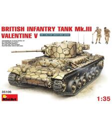 1:35 British Infantry Tank Mk.3 Valentine Mk. 5 - 2 figures