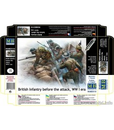 1:35 British infantry before the attack, WW II era - 7 figures