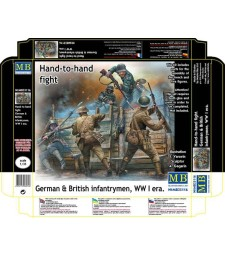 1:35 Hand-to-hand fight, German & British Infantrymen, WW I era  - 5 figures
