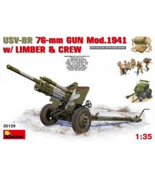 1:35 USV-BR 76-mm Gun Mod.1941 w/Limber & Crew - 5 figures