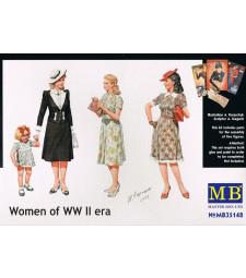 1:35 Women of WWII era - 4 figures