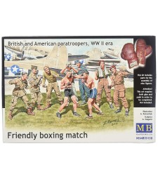 1:35 Friendly boxing match. British and American paratroopers, WW II era - 9 figures