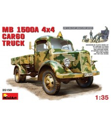 1:35 MB L1500 A 4x4 Cargo Truck - 5 figures