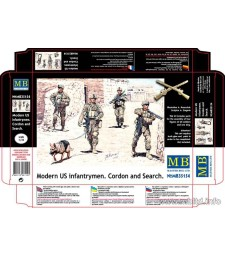 "1:35  ""Modern US infantrymen. Cordon and Search"" - 4 figures"