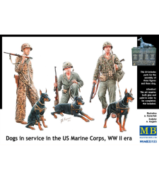 1:35 Dogs in service in the US Marine Corps, WW II era - 6 figures