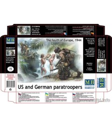 1:35 US and German paratroopers, the South of Europe, 1944  - 5 figures