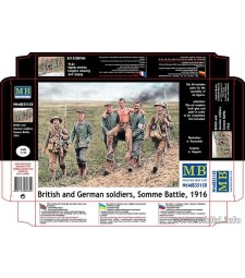 1:35 British and German soldiers, Somme Battle, 1916  - 6 figures