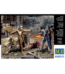 1:35 Zombie Hunter - Road to Freedom, Zombieland series - 4 figures