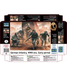 1:35 German Infantry, WWII era. Early period  - 5 figures