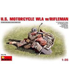1:35 U.S.Motorcycle WLA with Rifleman