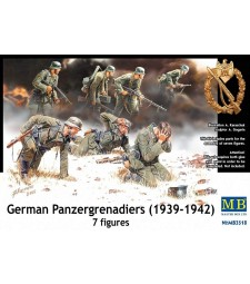 1:35 German Panzergrenadiers, 1939-1942 - 7 figures