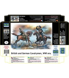 1:35 British and German Cavalrymen, WWI era  - 2 figures