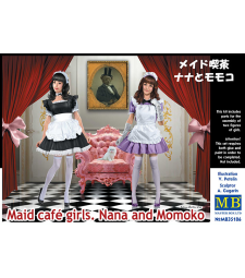 1:35 Maid café girls. Nana and Momoko - 2 figures