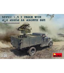 1:35 Soviet 1,5 t Truck w/ M-4 Maxim AA Machine Gun