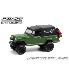 All-Terrain Series 11 - 1968 Jeep Jeepster Commando with Soft Top and Off-Road Parts - Dark Green Solid Pack