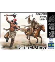 1:35 Indian Wars Series, kit No. 2. Tomahawk Charge - 2 figures