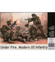 1:35 Under Fire. Modern US Infantry - 4 figures