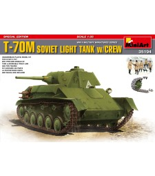 1:35 T-70M Special Edition with 5 figures and workable tracks