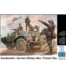 1:35 Bundeswehr. German Military Men, Present Day - 5 figures