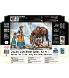 1:35 Outlow. Gunslinger series. Kit No. 1. Marshal Tom Tucker, Molly and Rebecca Hanson  - 3 figures