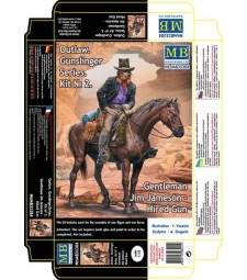 1:35 Outlow. Gunslinger series. Kit No. 2. Gentleman Jim Jameson - Hired Gun  - 1 figures