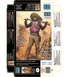 1:35 Outlow. Gunslinger series. Kit No. 3. Pedro Melgoza - Bounty Hunter  - 1 figures