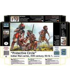1:35 Protective Circle. Indian Wars series, XVIII century. Kit No. 1  - 4 figures