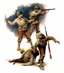 1:35 U.S. Infantry, July 1944  - 4 figures