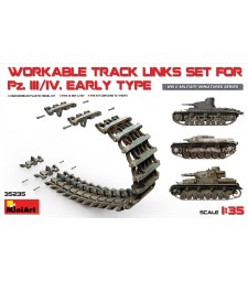 1:35 Panzerkampfwagen III-IV Workable Track Links Set, Early