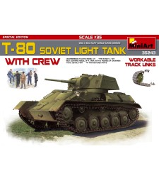 1:35 T-80 Soviet Light Tank with Crew Special Edition - 5 figures and tank