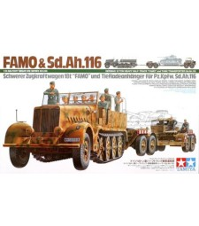 1:35 German 18 Ton Heavy Half-Track Famo and Tank Transporter Sd.Ah.116 - 10 figures