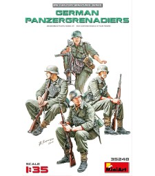 1:35 German Panzergrenadiers - 4 figures