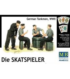 1:35 Die Skatspieler, German Tankmen, WWII - 4 figures