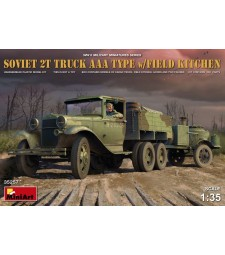 1:35 Soviet 2 t Truck AAA Type with Field Kitchen with 2 figures