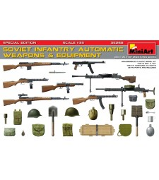 1:35 Soviet Infantry Automatic Weapons & Equipment, Special Edition (PE Parts)