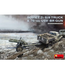 1:35 Soviet 2 t 6x4 Truck with 76 mm USV-BR Gun