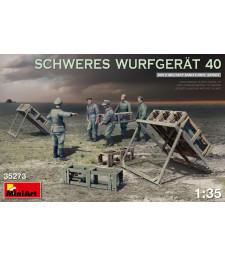 1:35 SCHWERES WURFGERAT 40 - 5 figures