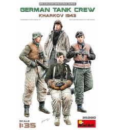 1:35 German Tank Crew.Kharkov 1943 - 4 figures