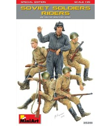 1:35 Soviet Soldiers Riders, Special Edition - 5 figures