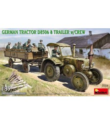 1:35 German Tractor D8506 with Trailer & Crew