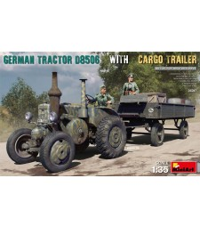 1:35 German Tractor D8506 with Cargo Trailer