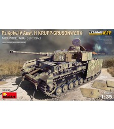 1:35 Pz.Kpfw.IV Ausf. H Krupp-Grusonwerk. Mid Prod. (Aug-Sep 1943) Interior Kit