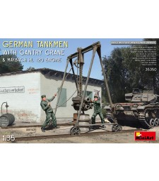 1:35 German Tankmen with Gantry Crane & Maybach HL 120 Engine