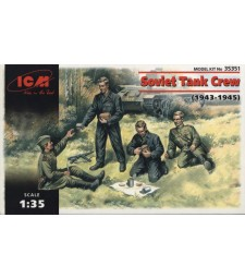 1:35 Soviet Tank Crew (1943-1945) (4 figures - 2 officers, 2 tankmen)