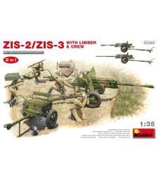 1:35 ZIS-2/ZIS-3 With LIMBER & CREW. 2 IN 1
