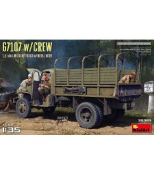 1:35 G7107 with CREW 1,5t 4X4 CARGO TRUCK with METAL BODY