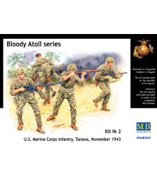 1:35 Bloody Atoll series. Kit No 2, U.S. Marine Corps Infantry, Tarawa, November 1943 - 4 figures