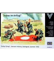 1:35 Stukas flying!, German Infantry, Stalingrad, Summer 1942 - 4 figures